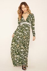 Forever 21 Semi Sheer Floral Maxi Dress