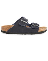 Birkenstock Arizona Microfibre Vegan Navy Leather Sandal Blue