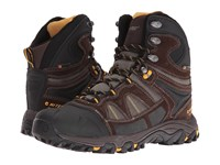Hi Tec Altitude Lite 200 I Waterproof Dark Chocolate Bungee Gold Men's Shoes Black