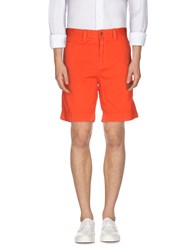 Closed Trousers Bermuda Shorts Men Orange