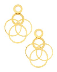 Herve Van Der Straeten Interlocked Hoops Drop Earrings Gold