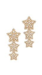 Kate Spade Bright Star Statement Earrings Clear Gold