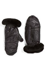 Uggr Women's Ugg Genuine Shearling And Leather Mittens