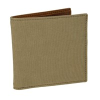 40 Colori Beige Solid Washed Mogador And Leather Wallet Brown
