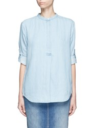 Closed Cotton Linen Denim Tunic Blue