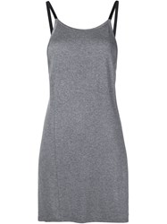 Live The Process Long Length Tank Top Grey