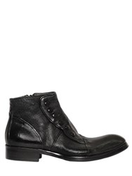 Jo Ghost 25Mm Washed Smooth Leather Ankle Boots