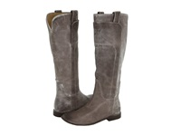 Frye Paige Tall Riding Grey Burnished Antique Leather Women's Pull On Boots Gray