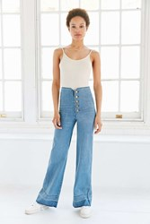 Bdg Button Fly High Rise Wide Leg Jean Tinted Denim