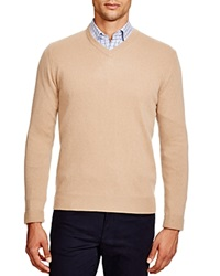 The Men's Store At Bloomingdale's Cashmere V Neck Sweater Camel