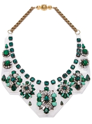 Shourouk 'Primavera' Bib Necklace Green