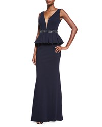 Jovani Sleeveless Peplum Gown Women's