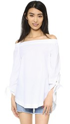 Free People Show Me Some Shoulder Blouse White