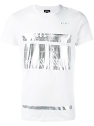Diesel Metallic Print T Shirt White