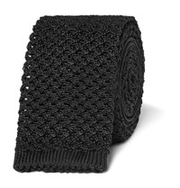 Tom Ford 6Cm Knitted Silk Tie Black