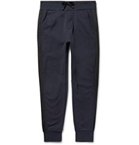 Public School Arbaa Tapered Loopback Cotton Jersey Sweatpants Blue