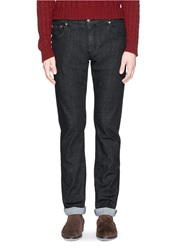 Isaia Slim Fit Jeans Black