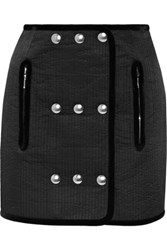Alexander Wang Embellished Quilted Twill Mini Skirt Black
