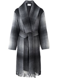 Alexander Wang T By Checked Coat Grey