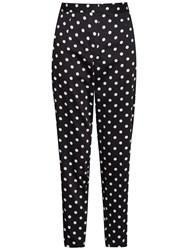 French Connection Spot Cotton Trousers Black Winter White