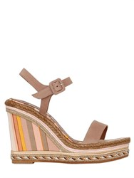 Valentino 105Mm Navajo Leather Espadrille Wedges