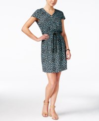 G.H. Bass And Co. Floral Print Fit And Flare Dress Black Combo