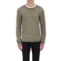 John Varvatos Star U.S.A. Men's Striped Crewneck Sweater Dark Green