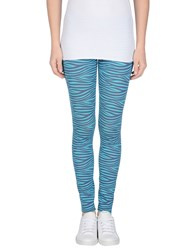 Marzia Genesi Sea Trousers Leggings Women Turquoise