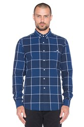 Saturdays Surf Nyc Dorian Buffalo Check Button Up Blue