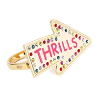 Maria Francesca Pepe Women's Street Neon Thrills Double Finger Ring Gold
