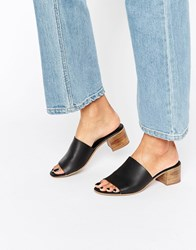 Asos Tale Leather Mules Black