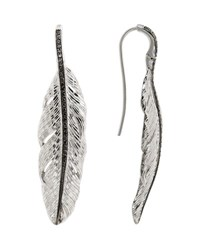 Michael Aram Medium Feather Drop Earrings With Diamonds