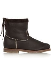 Penelope Chilvers Zuri Shearling Lined Leather Boots