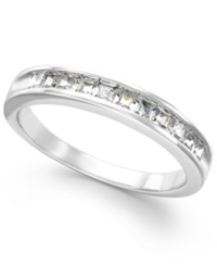 Macy's Certified Diamond Channel Band In 14K White Gold 1 2 Ct. T.W.