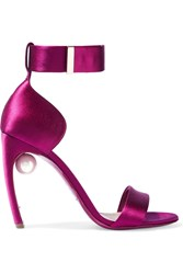 Nicholas Kirkwood Maeva Embellished Satin Sandals Purple