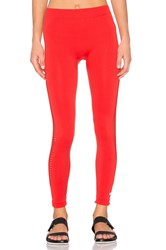 Adidas By Stella Mccartney Essentials Seamless Mesh Tight Red