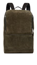 Jack Spade Suede Utility Backpack Covert Green