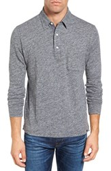Faherty Men's Heathered Jersey Polo Charcoal Heather