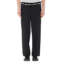 Tim Coppens Wide Leg Crop Trousers Black