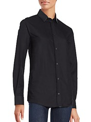Iro Long Sleeve Button Front Shirt Black