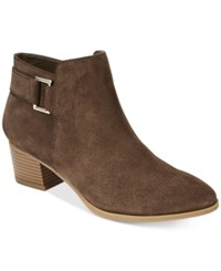 Alfani Women's Adisonn Ankle Booties Only At Macy's Women's Shoes Brown Suede