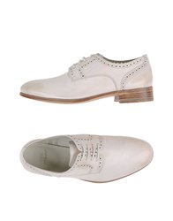 N.D.C. Made By Hand Footwear Lace Up Shoes Women Ivory
