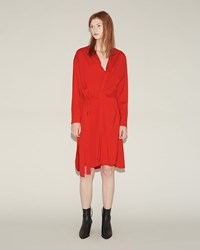 Isabel Marant Dias Silk Dress Red