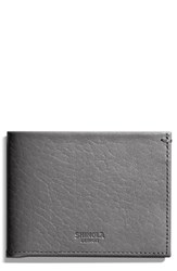 Shinola Men's Slim Bifold Leather Wallet Grey Gunmetal