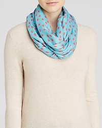 Kate Spade New York Leopard Dot Infinity Scarf Caribbean Blue