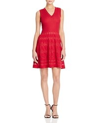 M Missoni Sleeveless Fit And Flare Dress Dark Red