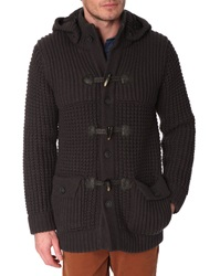 Menlook Label Thick Knit Aaron Asphalt Grey Coat