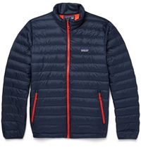 Patagonia Down Quilted Dwr Recycled Lightweight Jacket Blue