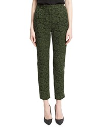 Valentino Floral Lace Cropped Pants Hunter