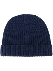Eleventy Knitted Hat Blue